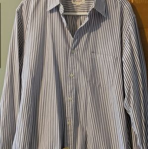 JCrew long sleeve pin striped dress shirt